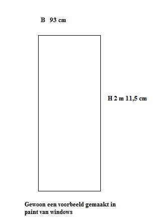 Bekend Standaard binnendeurkozijn met bovenlicht op maat gemaakt LL43