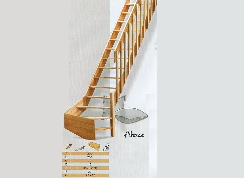 Beukenhouten kwartslag voor aan een steektrap kopen for Maten trap