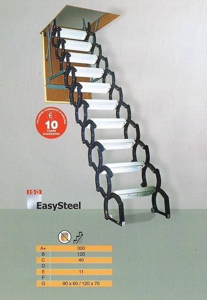Uittrek vlizotrap van staal kopen bij trappenspecialist maatkracht - De trap van de bistro ...