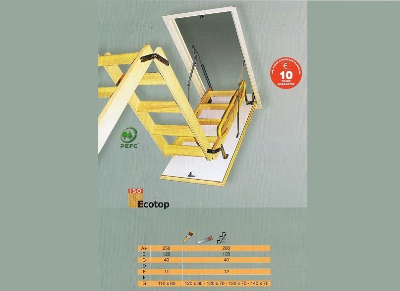 driedelige vlizotrap, opklap trap
