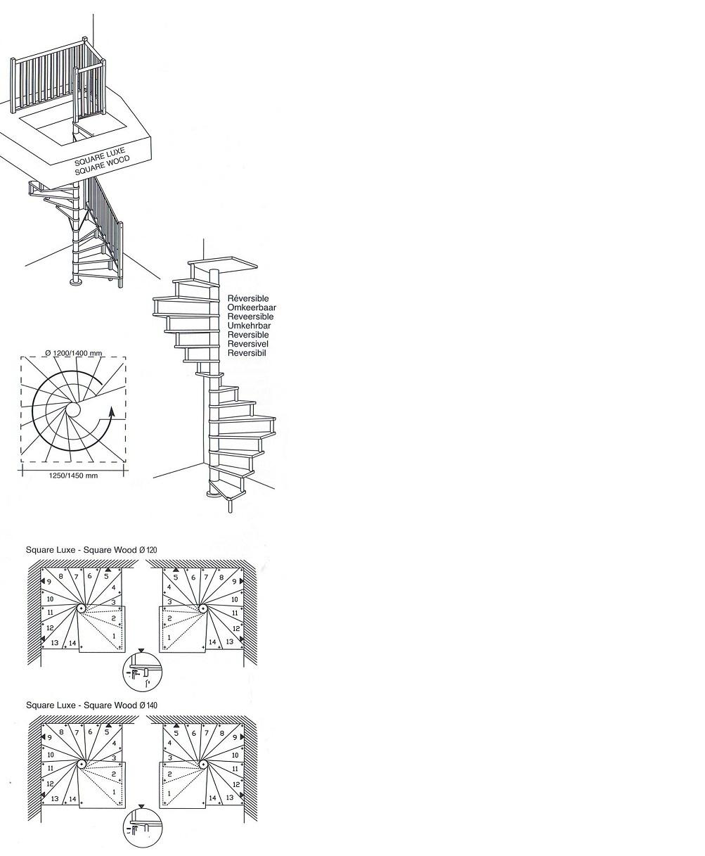 Trapleuning voor de square wood tekoop bij for Maten trap