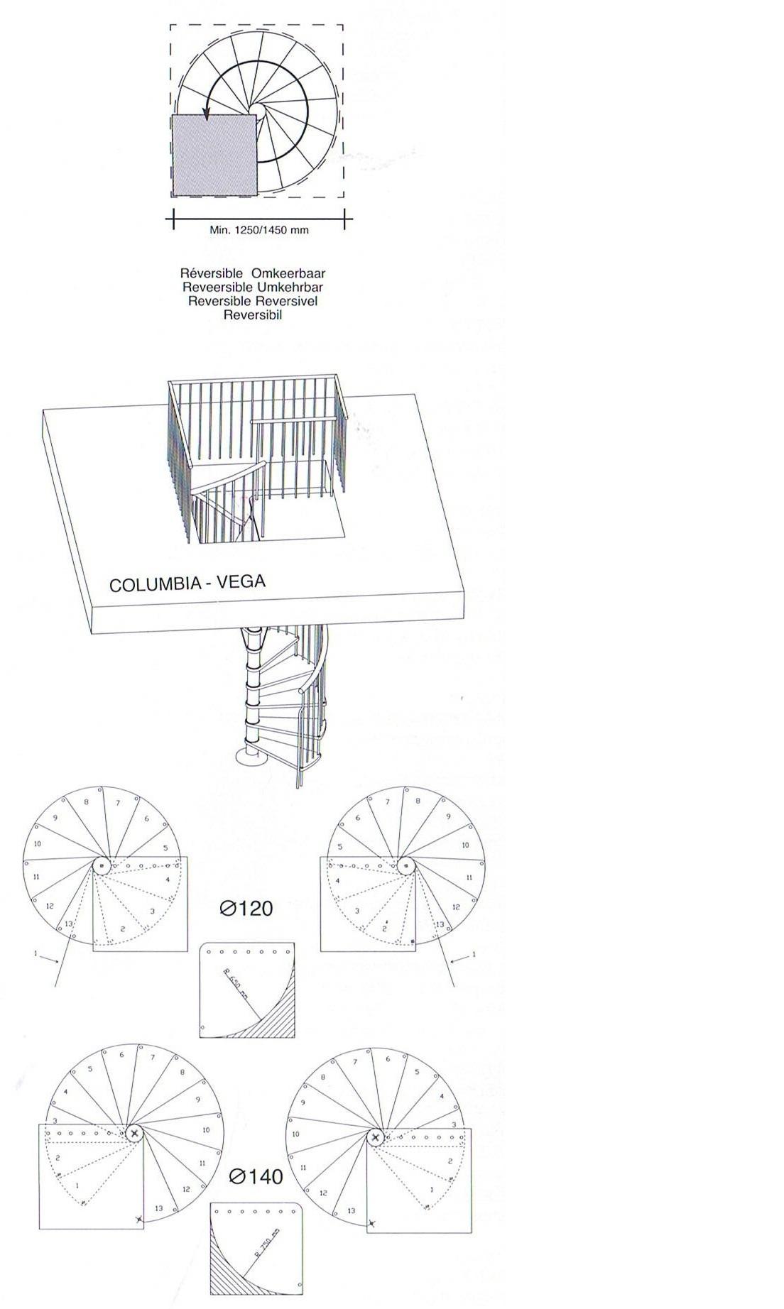Extra trede voor de vega spiltrap om 23 cm hoger te komen for Maten trap